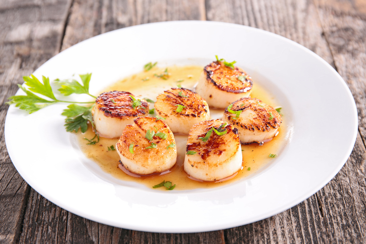 Pan-fried Scallops with Lime
