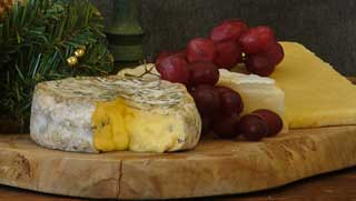 Festive Christmas Cheese online from our Dorset