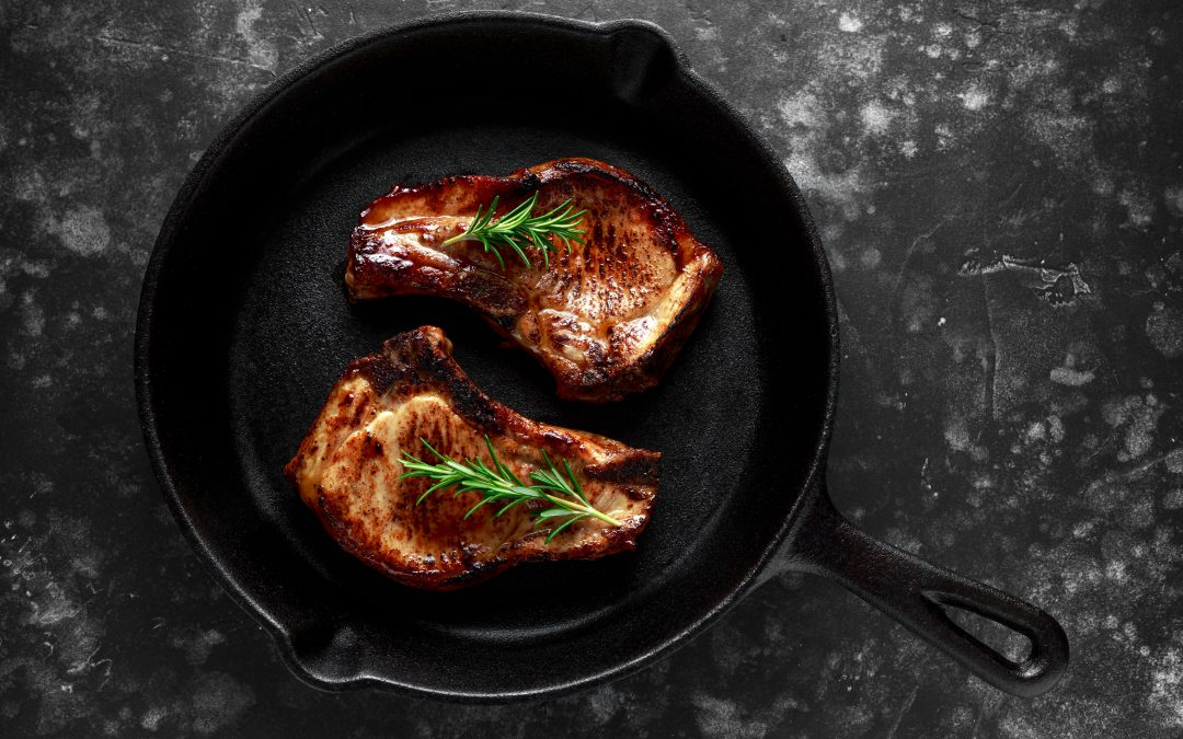 Pork Loin Steaks with warm Slaw